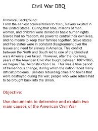 Essay On The Civil War Causes Of Civil War Essay