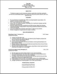 Gallery Of Social Services Resume Occupational Examples Samples Free