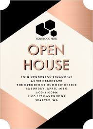 Open House Business Invitations Modern Copper Business Open House Invitation Business Open House