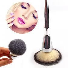 very big beauty powder soft face makeup brush foundation round make up large cosmetics aluminum