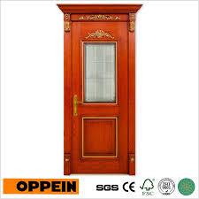 china oppein classic brown solid wood glass interior security wooden door mssd08 china wooden door wood door