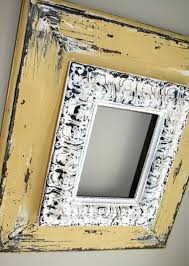 diy inspiration layer old frames paint distress like the idea of layering frames