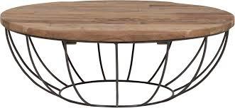coffee table madison black frame 35xØ100 cm