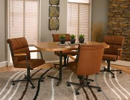 rolling dining room chairs. cramco, inc landon dining arm chair with casters - wayside furniture rolling room chairs