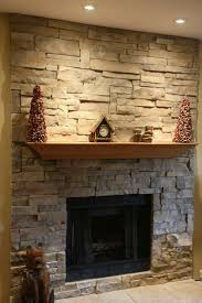 Ledge Stone (dry stack stone) Fireplace This was a brick fireplace  completely