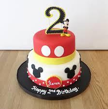 2 Tier Mickey Mouse Birthday Cake The Cakery Leamington Spa