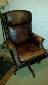 antique leather study chairs. vintage leather executive swivel office chair brown #unknown antique study chairs u