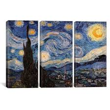 icanvas the starry night by vincent van gogh canvas wall art