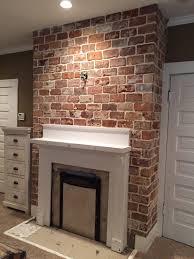 reclaimed thin brick tiles fireplace vintagebricks com