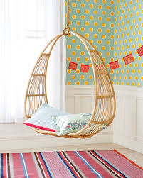 rattan hanging chair ikea with pretty rug and wallpaper for home decoration  ideas