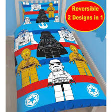 cotton blend new lego star wars single duvet quilt cover set boys blue bedroom