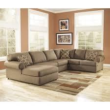Ashley Furniture Cowan 3 Piece Sectional Sofa in Mocha 16