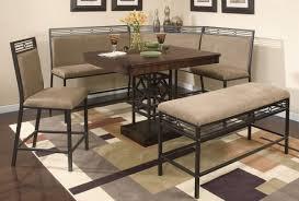 leather breakfast nook furniture. Black Square Metal Breakfast Nook Table Leather Furniture R