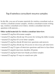 wireless consultant resumes top8wirelessconsultantresumesamples 150613010739 lva1 app6892 thumbnail 4 jpg cb 1434157702
