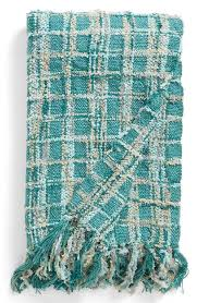 feather chenille textured turquoise checd throwturquoise chenille sofa throw blanket 13