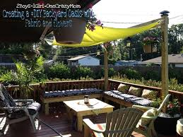 working creating patio: create a simple fabric sail to add shade to your outdoor space in no time