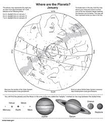 Astronomical Chart Of Stars And Planets Star Maps Where Are The Planets Activity And Handout