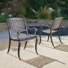 aluminum patio chairs. Randalstown Cast Aluminum Outdoor Chair (Set Of 2) Aluminum Patio Chairs A