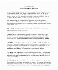 How To Write A Formal Lab Report For Chemistry Formal Lab Report Template Chemistry Plus Inspirational Experiment