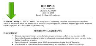 resume skills summary examples resume career overview example