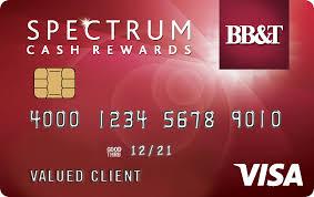 bb t spectrum cash rewards credit card