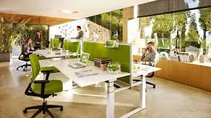 awesome open office plan coordinated. Awesome Open Plan Office Coordinated With Green Panels And Chairs! #openplanoffice: T