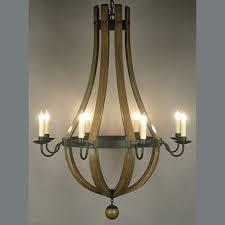 26120 c wine barrel stave chandelier