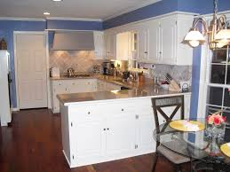 color schemes for kitchens with white cabinets. Appealing White Plywood Kitchen Cabinetry Set In Blue Wall Paint Color Idea Schemes For Kitchens With Cabinets