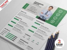 Designer Resume Cv Psd Templates Psdfreebiescom