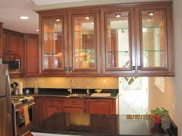 image of glass kitchen cabinet doors double