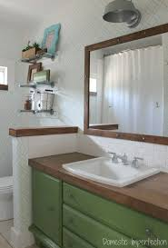 ashley domestic imperfection review of diy wood bathroom vanity countertop made from flooring