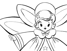 Small Picture Free Christmas Coloring Pages Retro Angels The Graphics Fairy