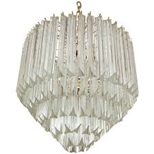 five tier crystal prism chandelier flush mount by camer