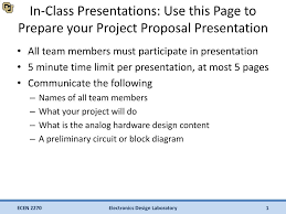 Project Proposal Presentation Ppt Ppt In Class Presentations Use This Page To Prepare Your Project