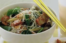 Asian pork salad and rice recipe