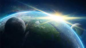3840x2160 planet, galaxy, light 4K ...