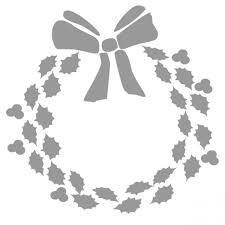 Christmas Wreath Stencil Cameo Christmas Stencils Free