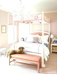 White Canopy Bed Frame Full Size Canopy Bed Frame Bedroom Kids With ...