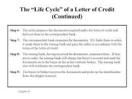 The Life Cycle of a Letter of Credit Continued