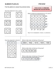 math puzzles numbers