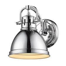 industrial bath lighting. Duncan Bath Light Chrome Metal Shade Industrial Lighting