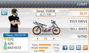 drag racing bike mod apk 201 m