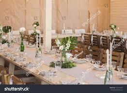 Simple Wedding Setup Designs Wedding Setup Floral Decorations Hand Made Stock Photo Edit