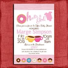 Office Baby Shower Invite Printable Office Donut Baby Shower Invitation Great For By