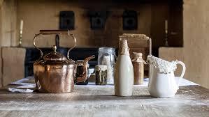Kitchen table kettle bottles and jugs at Elizabeth Farm Sydney