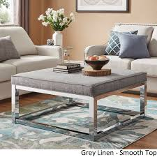 Solene-Square-Base-Ottoman-Coffee-Table-Chrome-by-