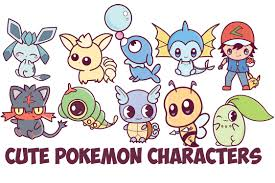 learn how to draw cute chibi kawaii pokemon characters with easy step by step drawing tutorial