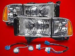 Conversion Headlights Left Right Kit Pair Fits 94 02 Dodge Ram Sport Pickup Ram Sport Dodge Ram Dodge Ram Sport