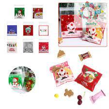 Set 10 Túi Nhựa Đựng Bánh Kẹo Hình Ông Già Noel Dễ Thương