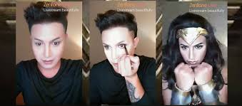 paolo ballesteros unleashes wonder woman in his make up transformation with s zenfone live